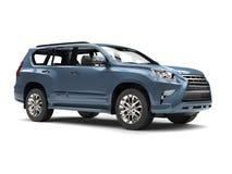 Kritisera den moderna familjen SUV för blåa grå färger vektor illustrationer