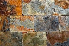 Kritisera färgrika texturtegelplattor för stenen Royaltyfria Bilder