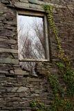 Kritisera fönsterramen Arkivfoto