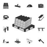 Kritisera symbolen Detaljerad uppsättning av symboler för konstruktionsmaterial Högvärdig kvalitets- grafisk design En av samling royaltyfri illustrationer