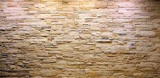 Kritisera väggen för stentegelstenentirioren Arkivbilder