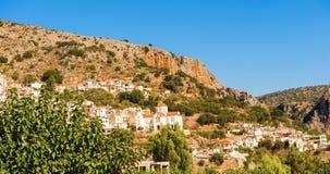 Kritsa镇在克利特,希腊 库存图片