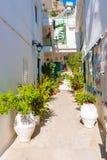 Kritsa镇在克利特,希腊 免版税图库摄影