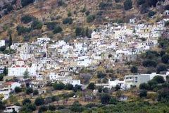 Kritsa - pueblo en las montañas del cretan Imágenes de archivo libres de regalías