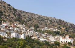 Kritsa traditional village in Crete, Greece Stock Image