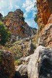 Kritsa wąwóz blisko Agios Nikolaos na Crete Zdjęcie Royalty Free