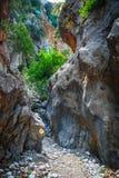 Kritsa wąwóz blisko Agios Nikolaos na Crete Fotografia Royalty Free
