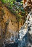 Kritsa wąwóz blisko Agios Nikolaos na Crete Zdjęcia Royalty Free