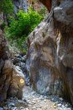 Kritsa wąwóz blisko Agios Nikolaos na Crete Zdjęcie Stock