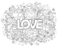 Kritzeln Sie Hand gezeichnete Vektorillustration, abstrakten Hintergrund, Beschaffenheit, Muster, Tapete, Hintergrund Sammlung vo Lizenzfreies Stockfoto