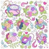 Kritzeln Sie Hand gezeichneten Vektorzusammenfassungshintergrund, Beschaffenheit, Muster, Tapete, Hintergrund Sammlung des Schönh Lizenzfreies Stockbild