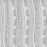 Kritzeln Sie Hintergrund im Vektor mit ethnischem Muster des Gekritzels Stockbilder