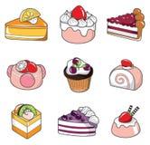 Kritzeln Sie Kuchen Lizenzfreies Stockfoto
