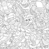 Kritzeln Sie Vektorillustration, abstrakten Hintergrund, Beschaffenheit, Muster, Tapete, Sammlung neues Jahr-Weihnachtselemente Stockfotos