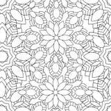 Kritzelt nahtloses Muster der Mandala Lizenzfreie Stockfotos