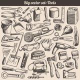 Kritzelt Sammlung des Hilfsmittel-Instrument-Vektors stock abbildung