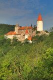 Krivoklat城堡在波希米亚 免版税图库摄影