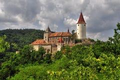 Krivoklat城堡 图库摄影