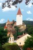 Krivoklat城堡 库存图片