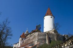 Krivoklat castle stock photo