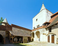 Krivoklat Castle Courtyard in Czech Republic Stock Photography