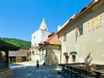Krivoklat Castle Courtyard in Czech Republic Royalty Free Stock Image
