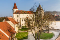 Krivoklat castle Courtyard-Czech republic,Europe Royalty Free Stock Images