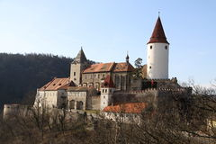 Krivoklat Castle. Large castle namer Krivoklat in the cetral Bohemia Stock Image