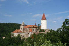 Krivoklat castle in summer Stock Image