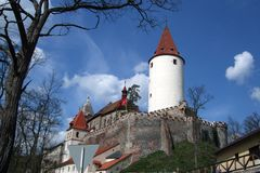 Krivoklat castle view Royalty Free Stock Photography