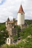 Krivoklat, château gothique de chasse royale, ses origines remontent à la République Tchèque du 12ème siècle et photos libres de droits