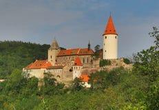 Krivoklat kasta w republika czech Fotografia Royalty Free