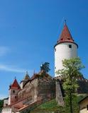 Krivoklat-Schloss Stockfotos