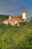 Krivoklat-Schloss in Böhmen Lizenzfreie Stockfotografie