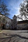 Krivoklat Schloss im Herbst lizenzfreies stockfoto