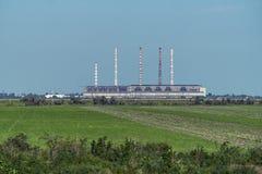 Krivoy Rog Thermal Power Plant immagini stock libere da diritti