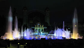 Krizik fountains in Prague. Royalty Free Stock Images