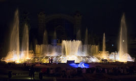 Krizik fountains in Prague. Stock Photography