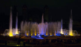Krizik fountains in Prague. Royalty Free Stock Photo