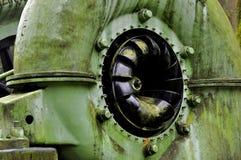 Krizik turbine. Detail historical Krizik turbine exhibited at the hydroelectric power in Podspálov near Zelezny Brod - Czech Republic Stock Photography