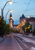 Krizovnicka street in Prague in dusk Stock Photo