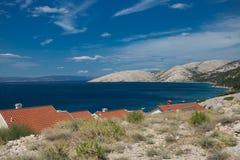 Krk海岛克罗地亚亚得里亚 免版税库存照片