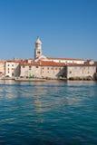 Krk,克罗地亚 免版税库存图片