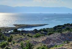 Krk ö som är halvöliknande av Kroatien Royaltyfri Fotografi