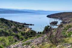 Krk öfjärd, i Kroatien Arkivbilder