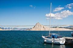 krk острова моста Стоковые Изображения