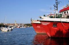 Krk. City of Krk in Krk island in croatia royalty free stock photos