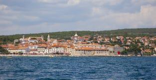 Krk. A view over krk, croatia stock photos