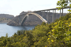 Krk bridge. Croatia. Krk bridge to Krk island Stock Photography