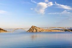 Krk bridge stock image